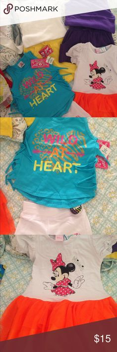Girls Outfits 4-6--NEW w/TAGS New with tags girls summer sets - 100% cotton except for white shorts which is poly/cotton/Lycra blend. 7 pieces/4 outfits. $18 for all...selling together. Matching Sets