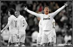 Ronald hat-trick plust 10 points clear of Barca on the table. want to go to Spain and experience the Santiago Bernabeu. Real Madrid Official, 10 Points, Couple Photos, Sports, Spain, Hat, Table, Santiago, News
