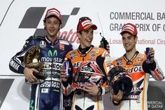 World champion Marc Marquez continued his perfect start to the season by winning the Spanish MotoGP for the first time at Jerez on Sunday. The 21-year-old won his 36th Grand Prix in just his 100th race with seven-time world MotoGP champion Valentino Rossi second on a Yamaha, just ahead of Marquez's compatriot and Honda team-mate Dani Pedrosa. #MotoGP #champion #Valentino #Rossi