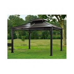 Metal-Patio-Gazebo-Steel-Hardtop-Outdoor-Hard-Top-10x12-Pergola-Shed-Waterproof