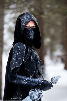 SKYRIM - Nightingale Armor Cosplay - News - GeekTyrant - I'm not into Skyrim, but must admit, after seeing this Cosplay... I may need to rethink this...: