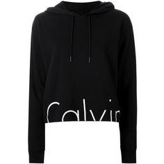 Calvin Klein Jeans Hem Logo Print Hoodie (275 RON) ❤ liked on Polyvore featuring tops, hoodies, black, hooded sweatshirt, hooded pullover, hoodie top, sweatshirt hoodies and calvin klein jeans