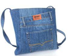 Sac à main bandoulière recyclé sac en Jean jean par Sisoibags