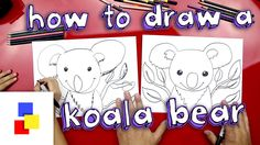 How to draw a cute koala bear, for kids!