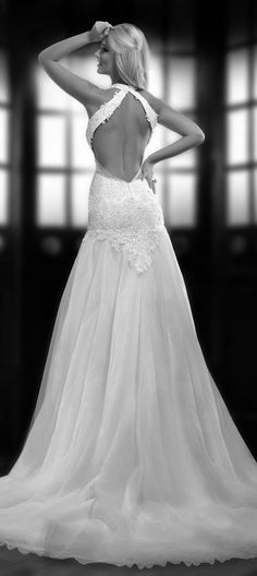 Crossed back ~ One Love by Bien Savvy 2014 Bridal Collection   bellethemagazine.com