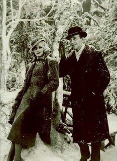 Winter time. I love this shot of Fred and Ginger