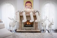 Christmas at Kris Jenner's house-livingroom