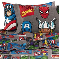The Marvel® Heroes Super Heroes Sheet Set is great for any super hero fan. With images of classic super heroes like Spider-Man, Incredible Hulk, Captain America, and Iron Man, the sheets are perfect for any super hero themed room.