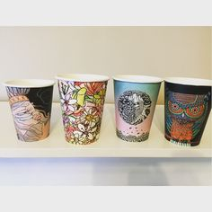Check out my new cups. Gonna to make lots of coffee Cup Art, Art Series, Cups, Coffee, Check, Instagram Posts, How To Make, Coffee Cafe, Mugs