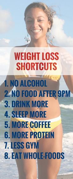 These 8 weight loss shortcuts actually work. #weightloss #healthy #diet #fitness #workout http://rupertreviews.com/8-weight-loss-shortcuts-that-actually-work/
