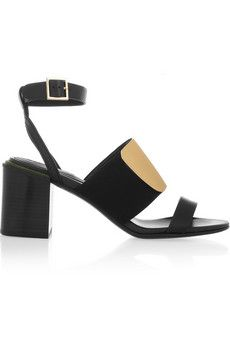 See by Chloé Metallic and leather sandals | NET-A-PORTER
