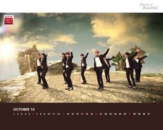 Best Kpop Wallpaper, Download Super Junior Lotte Duty Free October Calendar Wallpaper HD Wallpaper now!