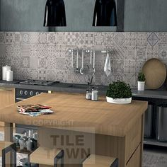 Cement Patchwork Grey tile by Ca\'Pietra combines several different ...