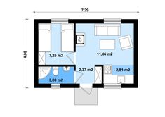Rzut KP G134 - Budynek letniskowy CE Roof Design, House Plans, Floor Plans, Cottage, Flooring, How To Plan, Houses, House Building, Tools
