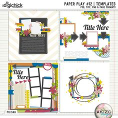Paper Play #12 | Templates by Akizo Designs