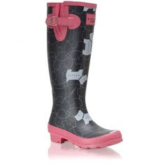 In Stitches Long Wellie Boot Radley Bags, Wellies Boots, Designer Leather Handbags, Stylish Handbags, Westies, Scottie, Online Shopping Stores, Look Fashion, Rubber Rain Boots