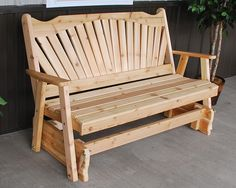 Features: -This glider will dress up any porch or patio. -Made in the USA…