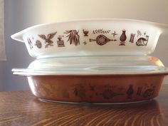 Vintage Pyrex Early American Cinderella Divided casserole and serving ...