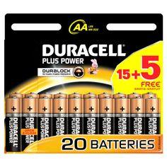 Con las pilas Duracell Plus Power AA, aseguras un rendimiento fiable y duradero en todos tus aparatos de uso cotidiano. La batería es alcalina de 1.5 de voltaje que te ofrece gran durabilidad. Tenlo siempre a mano y da más vida a tus mandos a distancia, juguetes o cámaras de fotos.
