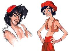 19 Disney Characters That Could Have Looked Completely Different -- Yeah, that could of been Aladdin.