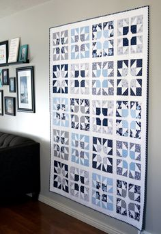 Star Quilt Blocks, Star Quilts, Easy Quilts, Modern Quilt Blocks, Colchas Quilting, Quilting Projects, Quilting Designs, Quilting Ideas, Quilting Tutorials