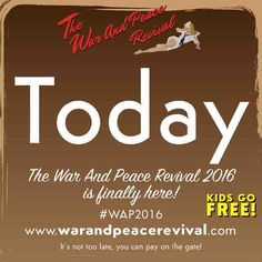 Ladies and gentlemen boys and girls; The War And Peace Revival 2016 is here! The greatest celebration of military history and vintage lifestyle on the planet. Didn't book tickets online? Not to worry you can pay on the gate. #wap2016 #tanks #event #battle #war #peace #vintage #thingstodo #kidsgofree