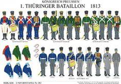 プレート287:プロイセン王国:1813年第一大隊チューリンゲン