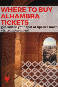 If you're not sure where to buy Alhambra tickets, keep in mind that you'll need to be proactive and purchase them before you even arrive in the city. Read our travel guide for several different methods so you can guarantee your entry to this spectacular complex full of gardens, courtyards, palaces and more. #Granada Spain Travel, Us Travel, Travel Guide, Buy Tickets Online, Spanish Culture, Andalusia, Courtyards, Moorish, Most Visited