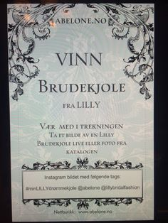 Vinn LILLY Brudekjole. ABELONE.NO  #abelone #abelonecollection #abelonebrudesalong #bryllup #Brudgom #bruden #abelone.no #brudekjole #brud #brudebilde #brudesko #brudemesse #LILLY #lillybrudekjole #losbygods #losby #brudemesselosby #Bryllupsmessen #bryllupsmesse #bryllupsmesselosbygods #EternityBridal #artCoutoure #ELLIS #EllisBridals #dress #Drømmekjolen #brudesko   #dåpskjole #dåpskjoler #dåp #Kirkeligdåp #Kirke #barnedåp #Dåpslue #dåplue #hvitdåpslue #dåpluer #Dåpkjoler # Chalkboard Quotes, Art Quotes, Instagram