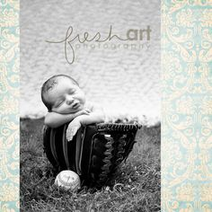 never too young; newborn photography; baseball props
