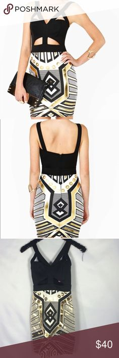 Black and Gold MVP dress NWT.. steal the show in this stunner.. black and gold hip hugging dress will make all the guys drool upon your arrival.. Nasty Gal Dresses Mini