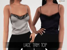 The Sims 4 Elliesimple - Lace Trim Top