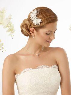 Bianco Evento haar accessoire bruid ivoor 128