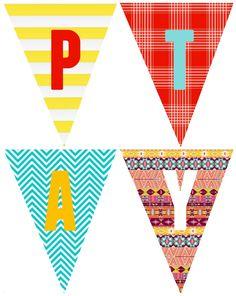 Printable Birthday Banner Template Luxury Birthday Banner Printables A Girl and A Glue Gun Workout Calendar Printable, Printable Calendar Template, Templates Printable Free, Printables, Printable Birthday Banner, Printable Banner Letters, Greeting Card Shops, Printable Christmas Cards, Kids Calendar