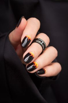 Fire Nails... or My Tribute to Australia Bushfire Crisis - SoNailicious
