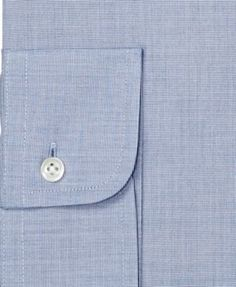 Brooks Brothers Men's Classic/Regular Fit Non-Iron Solid Navy Dress Shirt - Blue 14.5 33