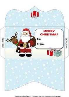 Santa and Rudolf Money Wallet 3 on Craftsuprint - Add To Basket!