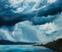 Summer storm, Silvia Ilona Klatt, oil on canvas