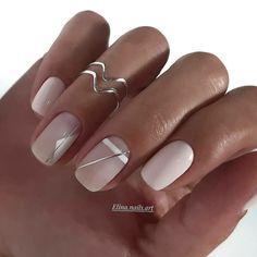 70 Beautiful Natural Short Square Nails Design For Winter Nails & Spring Nails 2020 - Page 2 of 14 - The Secret of Modern Beauty Edgy Nails, Oval Nails, Neutral Nails, Stylish Nails, Pink Nails, Minimalist Nails, Minimalist Style, Sqaure Nails, Manicure Nail Designs