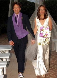 Robert and Susan Downey - wedding day.