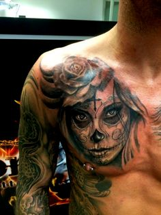 Tattoo-Foto: La Catrina Boog Tattoo