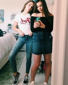Maddie Ziegler and Alison Taylor Abby Lee, Fashion Idol, Fashion 2017, Cute Fall Outfits, Dope Outfits, Maddie And Mackenzie, Mackenzie Ziegler, Maddie Zeigler, Skinny Motivation