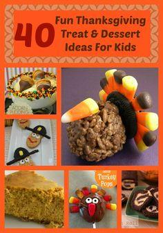 40 Fun Kid Friendly Thanksgiving snacks and dessert ideas