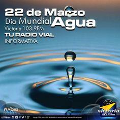 Hoy se celebra el Día Mundial del Agua con el lema: El agua y el empleo - #Actualidad vía @victoria1039fm  Hoy martes 22 de marzo se celebra el Día Mundial del Agua, fecha en la que se pretende crear conciencia en la humanidad y recordar la importancia de uno de los bienes naturales más necesarios para la vida. La creación de este día fue recomendado en la conferencia de las Naciones Unidas sobre el Medio Ambiente y el Desarrollo celebrada en Río de Janeiro, Brasil en 1992.