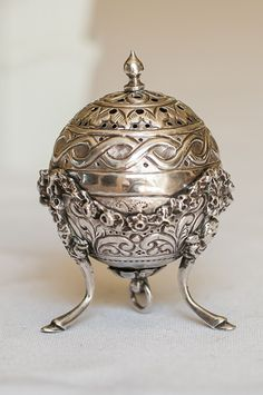 Victorian Sterling Silver Footed Salt Shaker