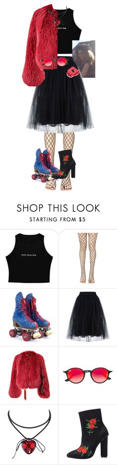 """""""Untitled #955"""" by stxrgxzingg on Polyvore featuring Leg Avenue and Ray-Ban"""