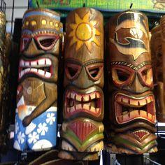 Totem poles .. Tiki