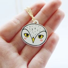 Snowy Owl Necklace Gift Boxed by TheVulpeculiar on Etsy