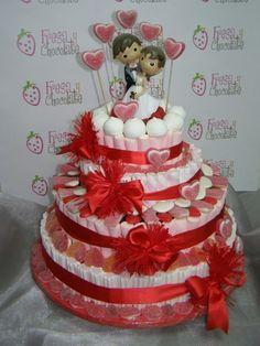 tarta gominolas boda - Buscar con Google