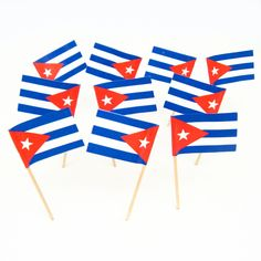 Cuban Flag Toothpicks | Cuba | Theme Party Decorations & Supplies
